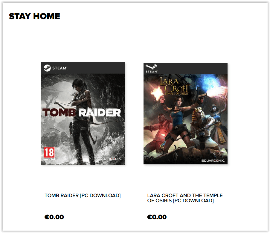 Jocurile Tomb Raider și Lara Croft and the Temple of Osiris sunt disponibile gratuit