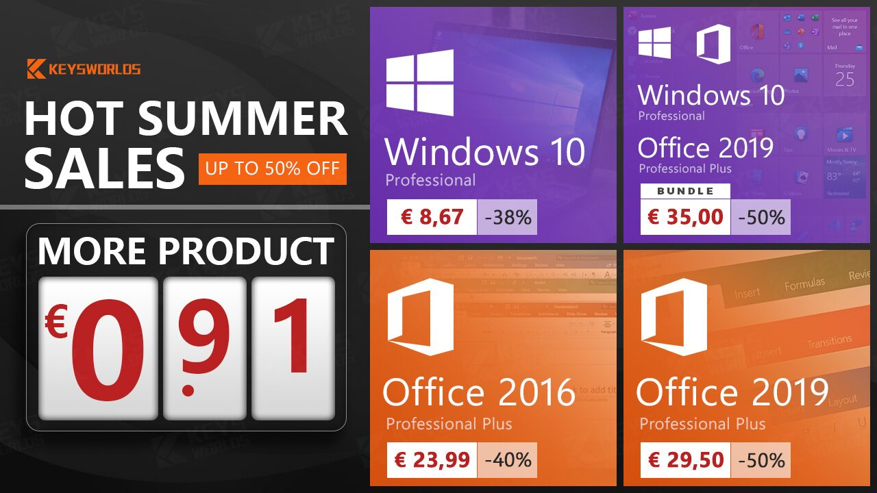 Obțineți Windows 10, Office 2019, Office 2016 și Xbox Live Gold Membership la cel mai mic preț!